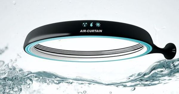 Air Curtain Shower Cabin Is Actually A Ring Shaped Shower Unit
