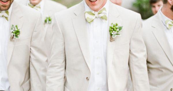 Wedding tie - gents in light linen | Mandy Busby #wedding