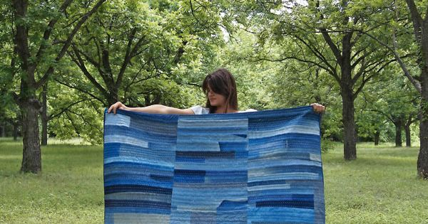 Patchwork denim quilt tutorial from Maura Grace Ambrose of Folk Fibers via