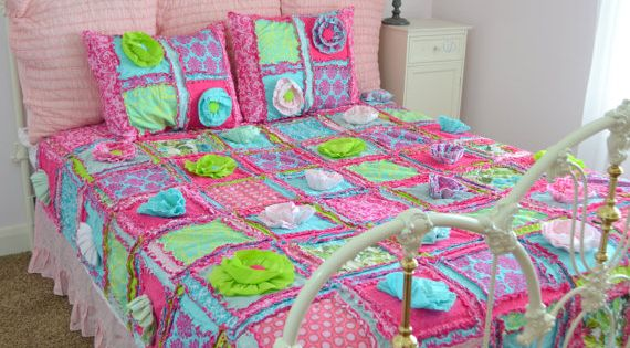how to make a twin size strip rag quilt