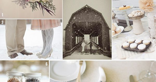 Blush Wedding Color Palette for winter wedding.