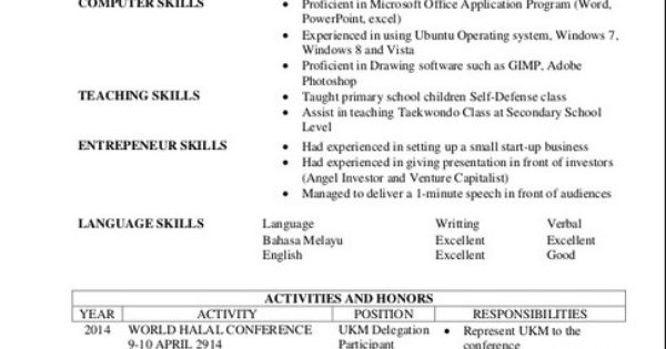 resume exles for students in food science resume