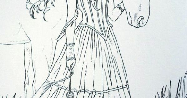 A Coloring Page From The Anne Stokes Coloring Book.