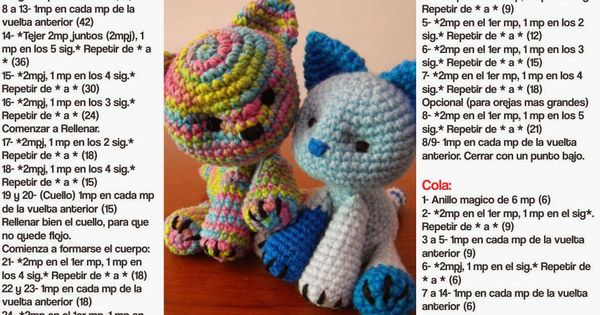 Amigurumi Ovalo : Irka!: Gatitos Multicolor - Patron Gratis Patterns need ...