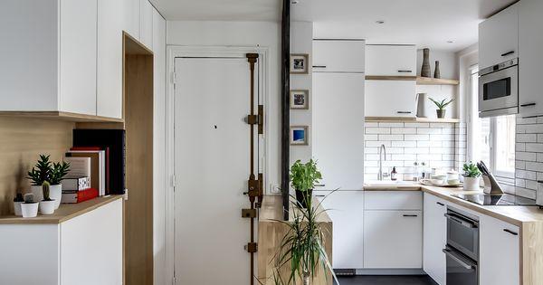 Dans cet appartement immacul l 39 esprit scandinave la for Petite verriere interieure