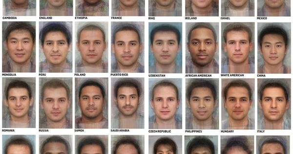 The average Women and Men faces in different co... - Few ...
