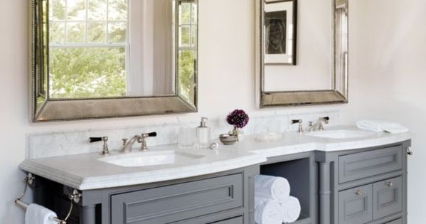White And Gray Traditional Bathroom Luxe Interiors Design New White House
