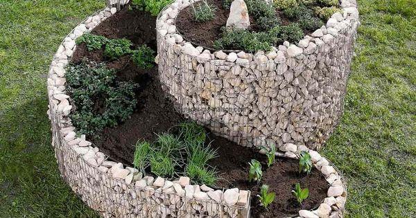 Jardini re spirale xxl gabion sans galet jardini res - Jardiniere xxl ...
