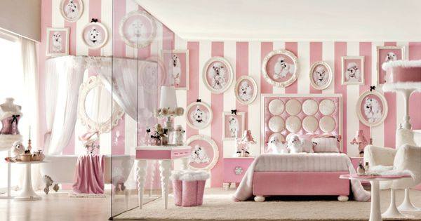 traumhaftes m dchen kinderzimmer komplett in wei rosa kinderzimmer babyzimmer. Black Bedroom Furniture Sets. Home Design Ideas