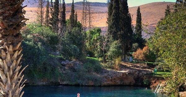 Thermal lake (Gan Hashlosha). Israel