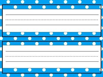 Editable Name Tags For Desks In A Variety Of Polka Dotted Desk Name Tags Student Name Tags Classroom Name Tags