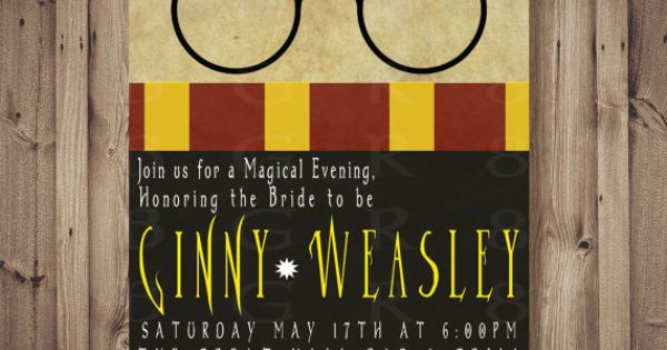 HARRY POTTER Inspired Bridal Shower / bachelorette / baby shower or party