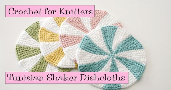 Tunisian Crochet Dishcloth Free Pattern : Tunisian Shaker Dishcloths Free pattern! You can use a ...