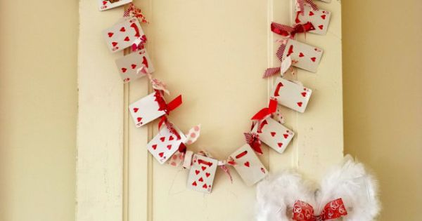 Decorative bunting - use hearts cards only