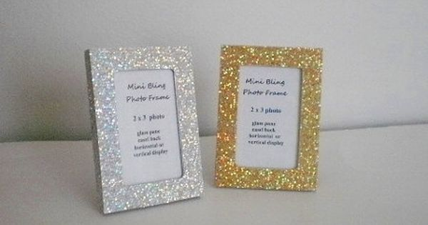 Mini Glitter Frame Silver Or Gold Glitter Picture Frames For The