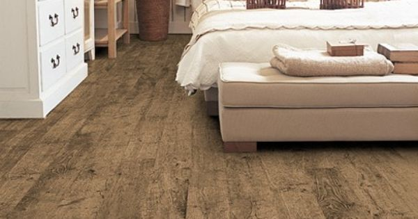 Love the wide plank rustic flooring and the way the bed floats