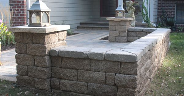 Patio Stone Walls : Paver patio with versa lok seat wall in lakeland shores