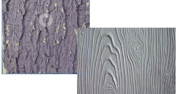 Tree Bark Texture Mat For Fondant Or Clay Free Standard