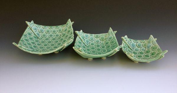 Merle Lambeth 3 Folded Bowls Made By Merle Pinterest