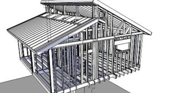 3d Warehouse View Model House Roof Design Roof Design Shed Roof Design