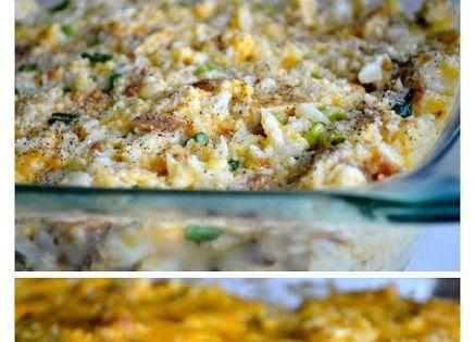 joysama images: loaded cauliflower & chicken casserole (THM S meal; 16 oz's cheese, 2 heads cauli, 3 chicken breasts, bacon)