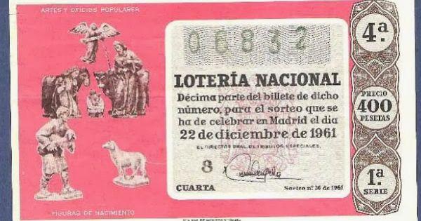 Loteria Navidad 1961 Lotería Navidad Lotería Nacional Lotería