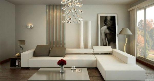 lampadario salotto : Regole per arredare il salotto - Salotto con grande lampadario