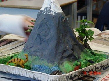 Make a Volcano!! baking soda, vinegar dishsoap (the dishsoap ...