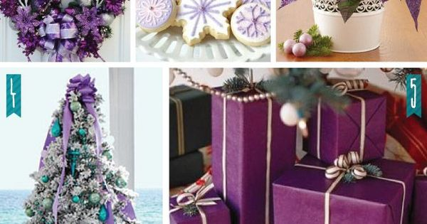 Holiday Color Series Decorating With Purple Purple
