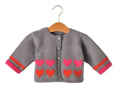 Knitting Pattern Cardigan For 18 Months : (via CARDIGAN WITH HEARTS 3-18 MONTHS IRONS 3-3.5 ?The Jersey Marica) Knitt...