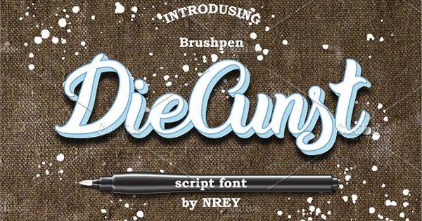 DieCunst – calligraphic handmade custom brushpen script font