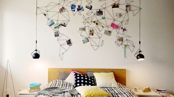 deco avec des photos id es et inspiration mur diy souvenirs de vacances et photos de voyage. Black Bedroom Furniture Sets. Home Design Ideas