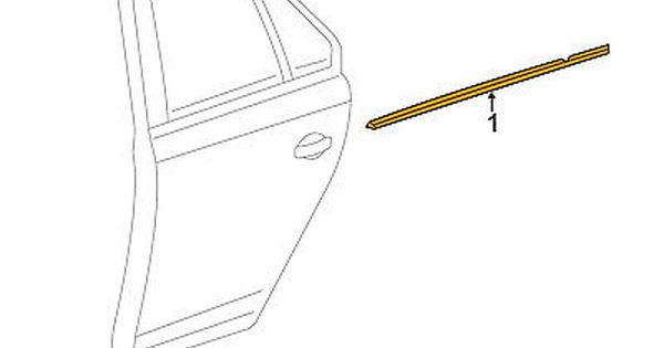 Vw Volkswagen Rear Window Door Belt Molding Weatherstrip Right 5c6839476b3q7 Car Truck Parts Exterior Door Panels Fr Cars Trucks Truck Parts Motor Parts