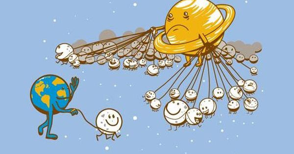 Moon Walking. Poor Saturn!