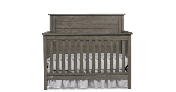 Fisher Price Quinn Convertible Crib In Vintage Grey By Bivona In 2020 Grey Crib Cribs Convertible Crib