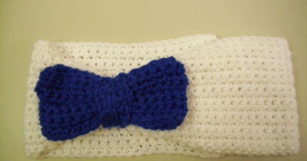 Crochet headband with bow #redheartyarn Red Heart Yarns ...