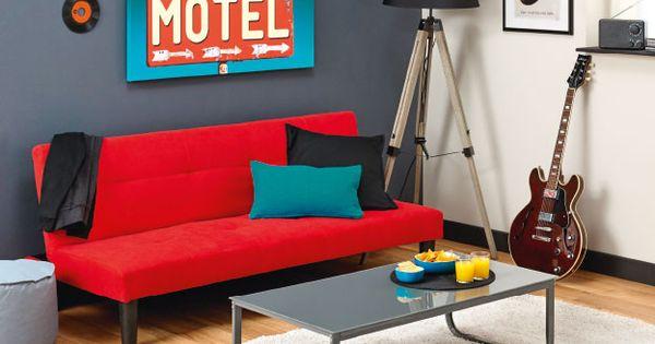 centrakor magasins de d coration pas cher meubles objets pinterest banquette convertible. Black Bedroom Furniture Sets. Home Design Ideas