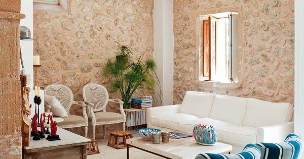 Como decorar una casa de piedra rustica antigua con un - Como decorar una casa rustica ...