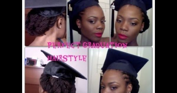 Perfect Graduation Lock Hairstyle Cute Without The Cap Too Graduation Hairstyles Graduation Hairstyles With Cap Braids For Black Hair