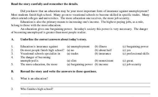 Images Of Reading Comprehension Worksheets High School