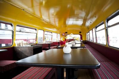 Inside Catering Double Decker Bus: Hello everybody ...