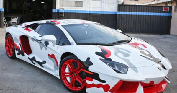Chris Brown S Fighter Jet Foamposite Inspired Lamborghini Aventador Random Awesome