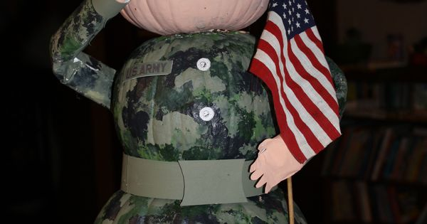 Army Themed Pumpkin By Kelsey Mccoy Halloween Ideas
