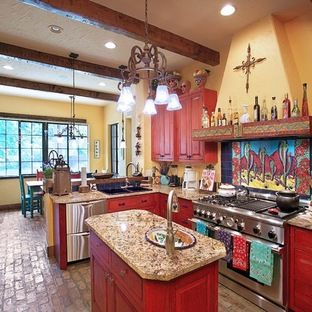 southwest color schemes kitchens