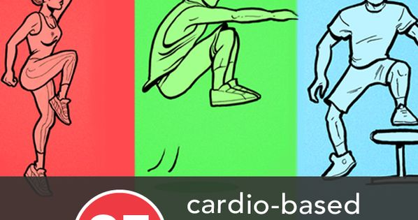 body weight cardio exercises - 10 exercises 1 minute each