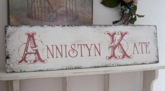 Custom Name Shabby Custom Signs For Nursery By
