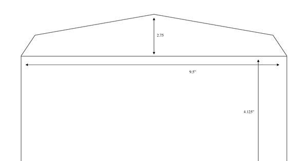 Envelope Measurements Standard 10 Envelope Dimensions 2 75 9 5 4 125 Envelope Template Window Envelopes 10 Envelope