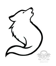 Samoyed Tattoo 3 Simple Wolf Tattoo Wolf Drawing Wolf Drawing Easy