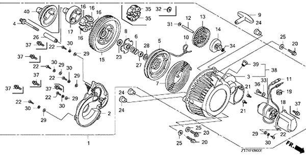 Honda Eu3000is An Jpn Vin Ezgf 1080001 Recoil Starter Parts Honda Eu3000is An Jpn Vin Ezgf 1080001 Recoil Starter Oem Parts Honda Honda Generator Parts