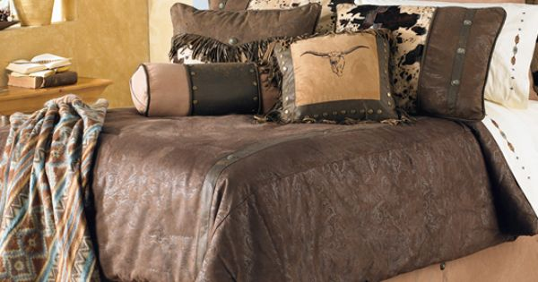 Caldwell Cowhide Bedding Collection Cabin Bedding And
